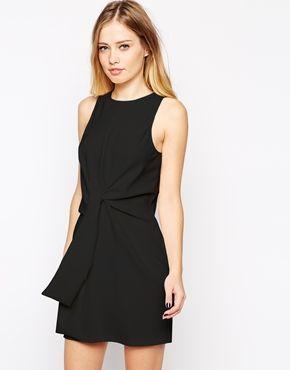 ASOS Sleeveless Shift Dress with Tie Waist Detail