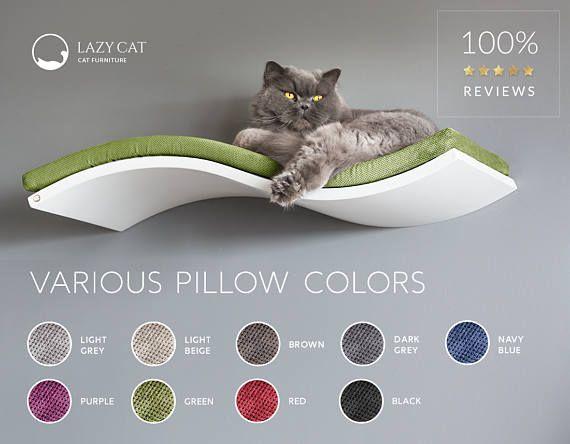 Gato estante estante de pared gato estante curvo muebles de