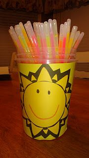 Glow stick singing time activity: turn off lights and have them help lead with glow sticks!