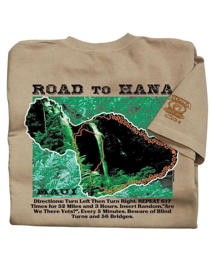 Crazy Road To Hana - Kona Coffee-Dyed The Classic Crew