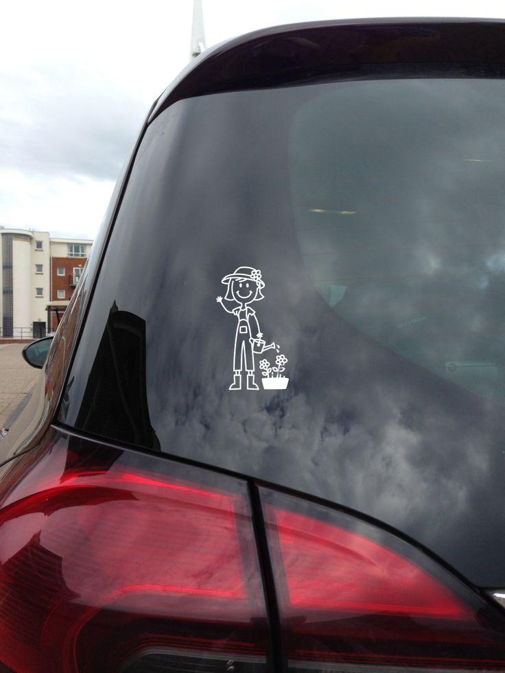 Naklejka na samochód - Mama Ogrodniczka - Ale Rodzinka