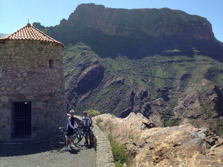 We ascended the road behind us shortly after. The Valley of The Tears. Thomson Bike Tours in Gran Canaria. Cycling training camp for people who love to climb.