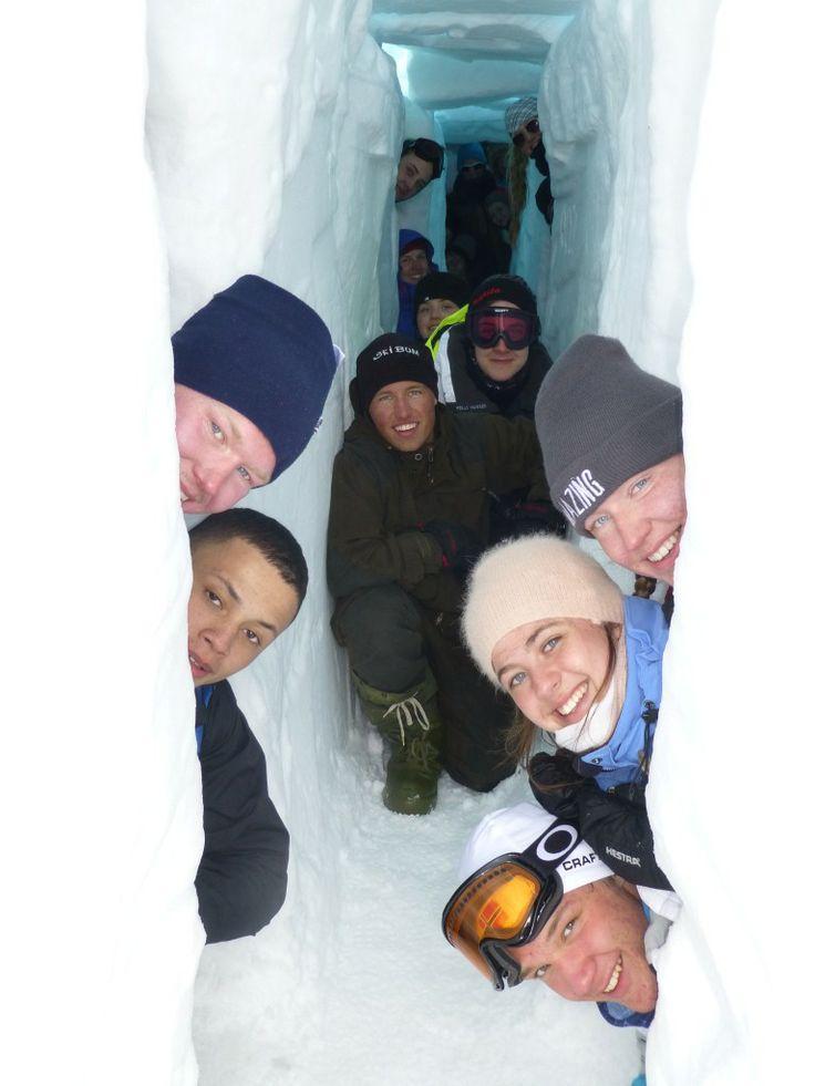 Snøhotell på Finse - velger du Friluftsliv programfag får du oppleve litt av hvert!