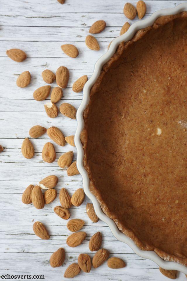 Pâte à tarte épeautre amande vegan echosverts.com