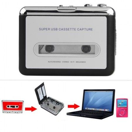 LECTEUR USB TAPE CASSETTE CONVERTISSEUR EN MP3 AUDIO