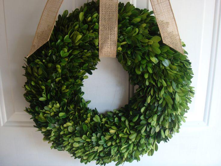 Preserved boxwood wreath, boxwood wreath, fall wreath, year round wreath, boxwood, wedding wreath, wedding decoration, boxwood decoration by designsdivinebyjb on Etsy https://www.etsy.com/listing/206799175/preserved-boxwood-wreath-boxwood-wreath