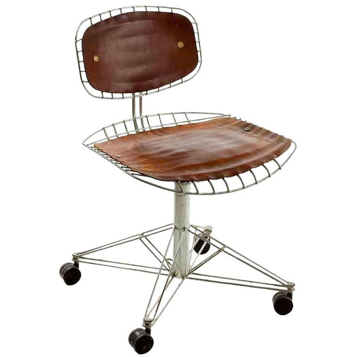 Beauborg desk chair | From a unique collection of antique and modern office chairs and desk chairs at http://www.1stdibs.com/furniture/seating/office-chairs-desk-chairs/