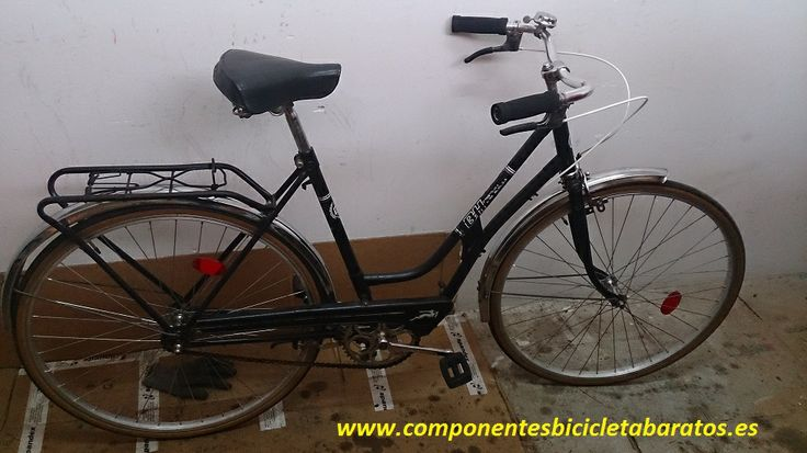 Buen comienzo de semana con esta restauración BH de paseo negra !!! Menudo change !!! Propiedad de componentes bicicleta baratos en Zaragoza.