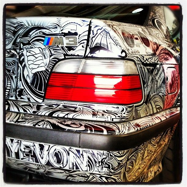 Serge's E36 M3 Beast with Custom Sharpie Artwork on BMW M3