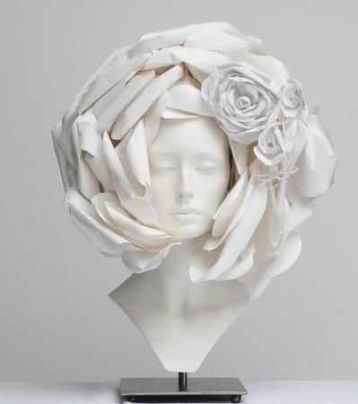 paper hats: stunning paper hats created by Katsuya Kamo for the 2009 collection