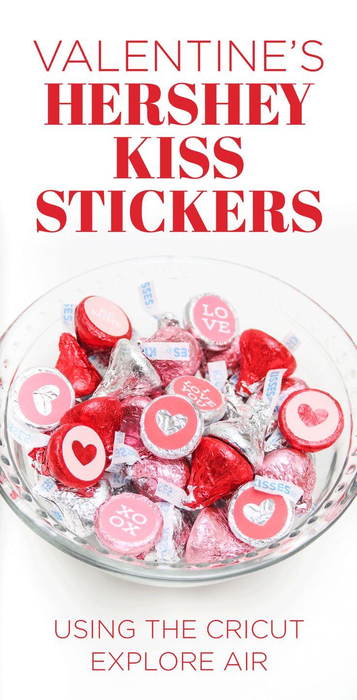 Valentine's Day Hershey Kiss Stickers | The Budget Savvy Bride