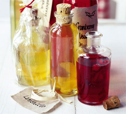 LIMONCELLO - Make up a batch of this boozy lemony drink - it's great as a homemade gift or poured over ice cream
