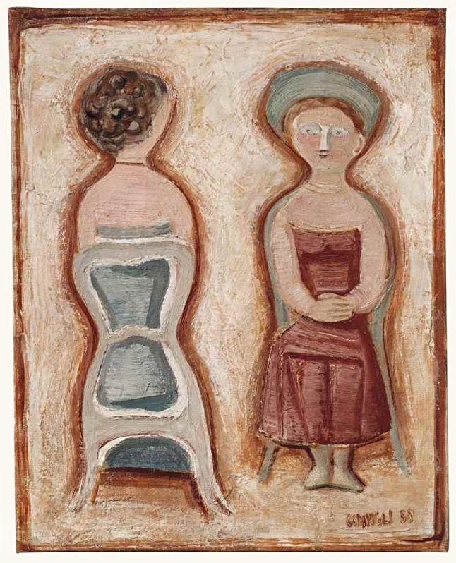 Donne sedute (Women sitting), 1953 - Massimo Campigli (1895–1971)
