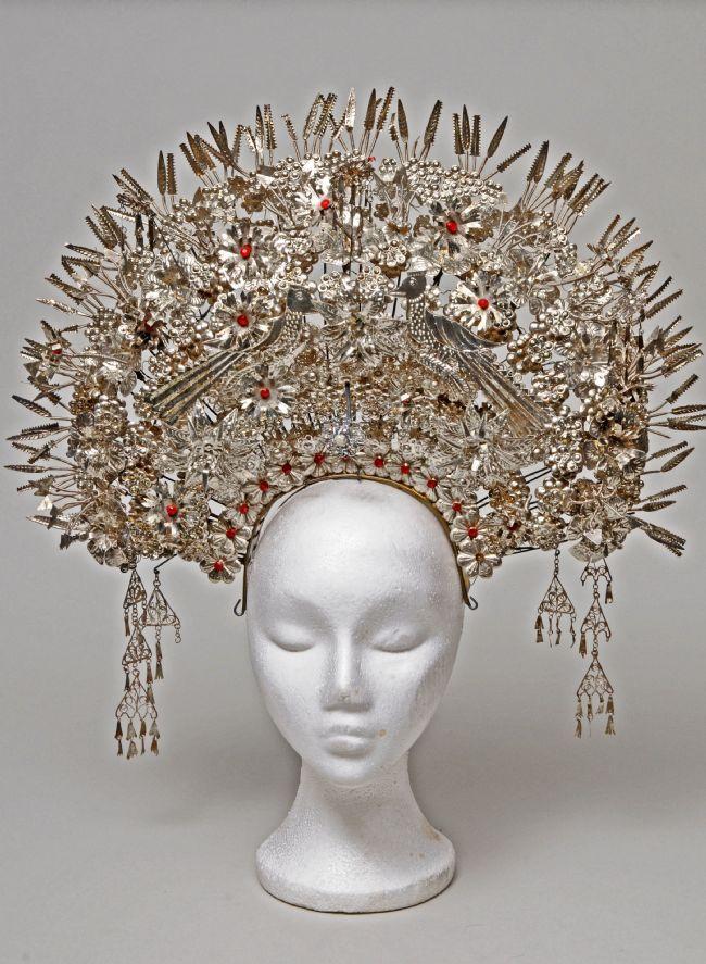 Silver Minangkabau bridal headdress