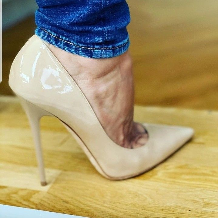 Details about  /Sexy Women Pumps Round Toe Extreme High Heels Custom-made Pumps Black Shoes Size