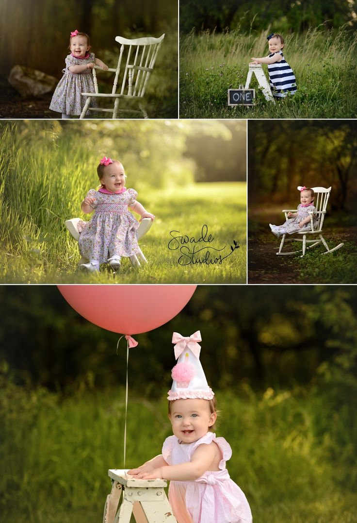 Outdoor Park Photo Session First Birthday Baby Girl 1st