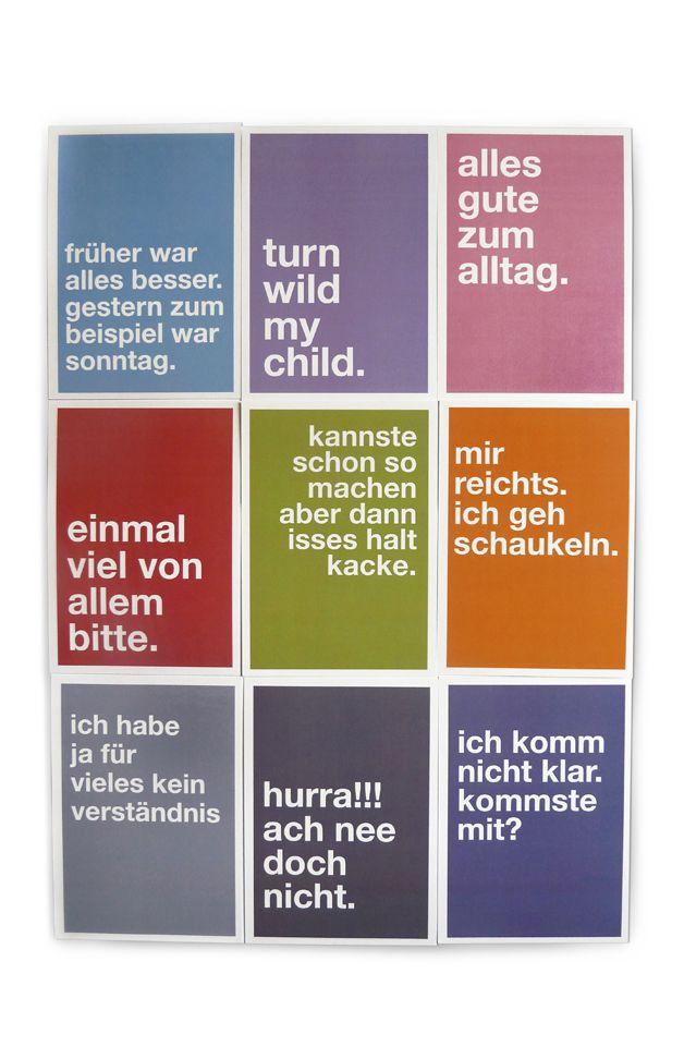 Humor - Postkarten Set Sprüche und Humor - ein Designerstück von Pap-Seligkeiten bei DaWanda