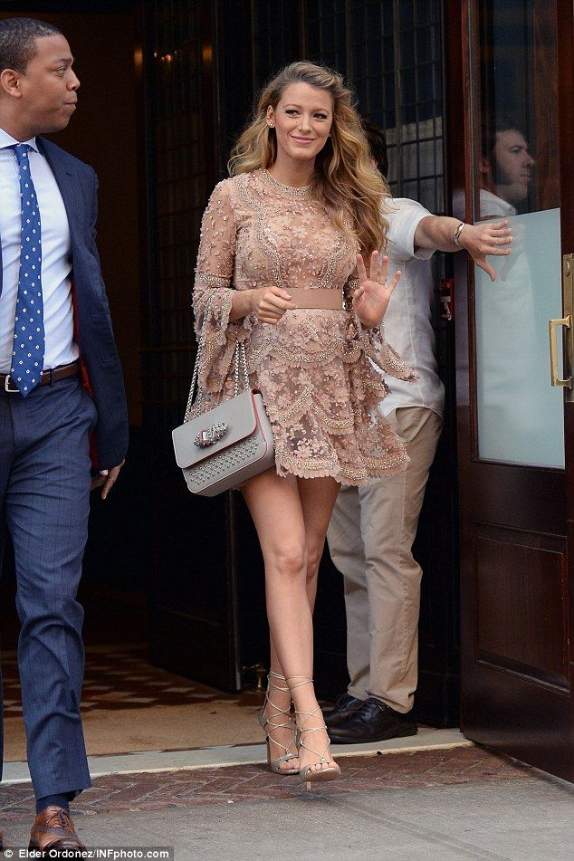 Ruffled: pregnant Blake Lively reigned supreme as queen of maternity dressing as she debuted yet another chic ensemble by Elie Saab while heading to the Today Show in New York City on June 20, 2016
