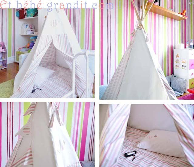 tuto kids fabriquer un tipi. Black Bedroom Furniture Sets. Home Design Ideas
