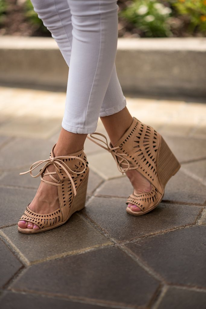 JC  Summer Womens Pumps Wedge inside Hollow out Breathable Fashion girls Casual