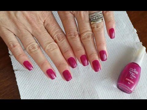 Fazendo as unhas sem tirar a cutícula e sem usar espátula | Unhas bonita...