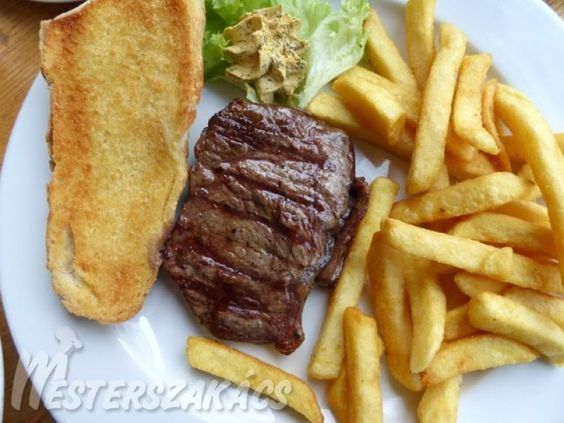 Flamand marha steak, sült burgonyával recept