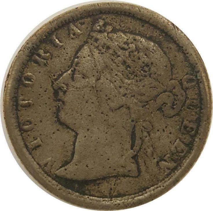 1893 Victoria Hong Kong Silver 20 Cents RARE 123 yr old British-Hong Kong coin