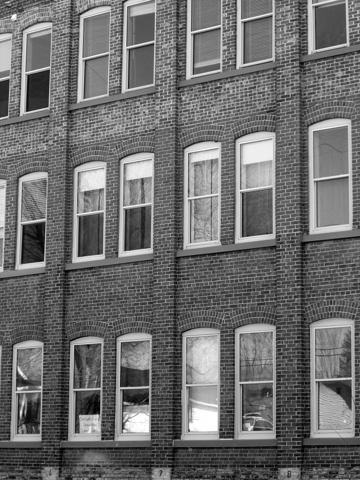 Brown Show Building in Black and White