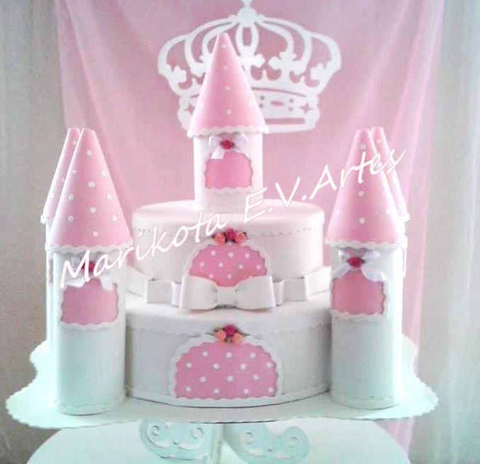 bolo fake castelo