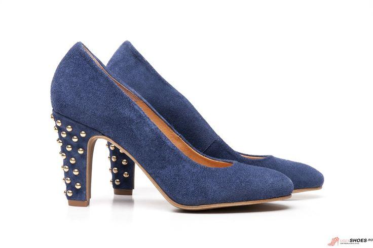 Pantofi cu tinte Igualados - Albastrii - 8.5cm