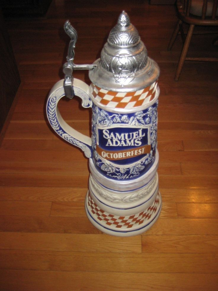 Huge 3 Feet Tall Samuel Adams Octoberfest Promo Display Beer Stein!! 35""