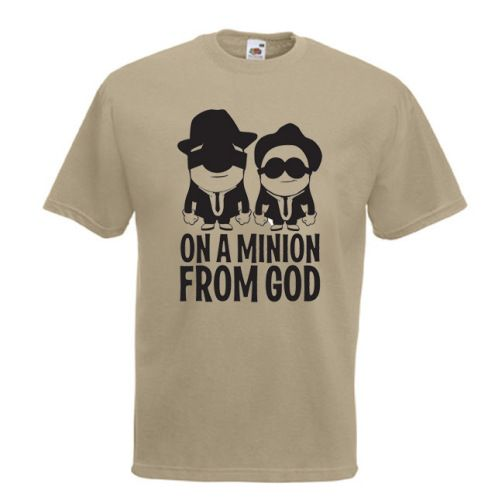 On A #Minion From God Mens #Blues #Brothers #Spoof #Tshirt £11.99 #Despicable #Me