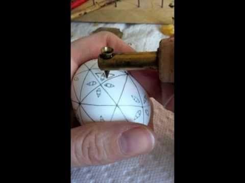 Pysanka (Ukrainian Easter Egg) - Demo Embroidered Egg - narrated instructions