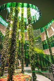 Plantwall, Växtvägg, Green Fortune, Plantwire, Emporia, Malmö, Sweden