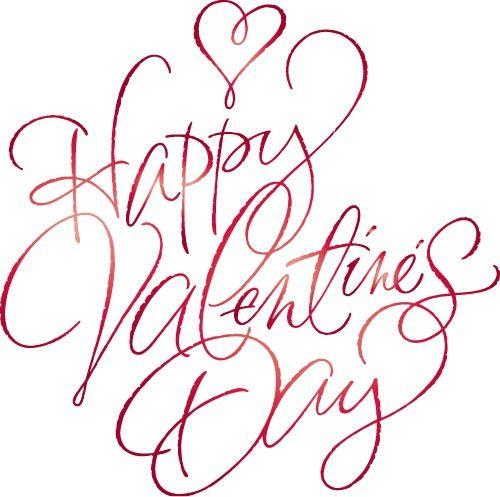 Happy Valentines Day  – Pretty Cursive Letters :: FineCraftGuild.com