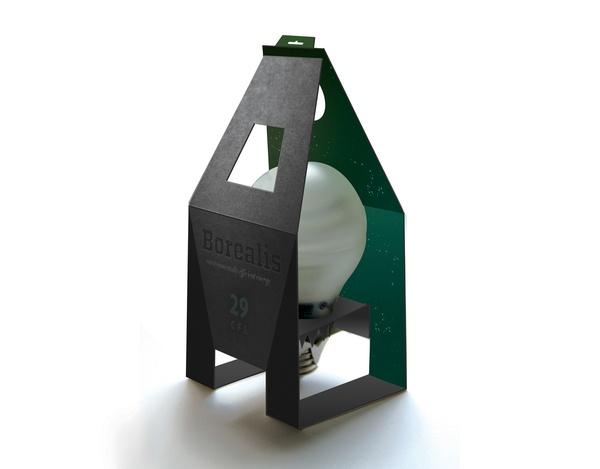 Borealis Bulbs | Packaging by Gabriella Thompson, via Behance