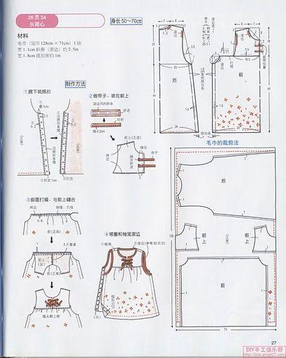 Molde vestido bebé - Imagui
