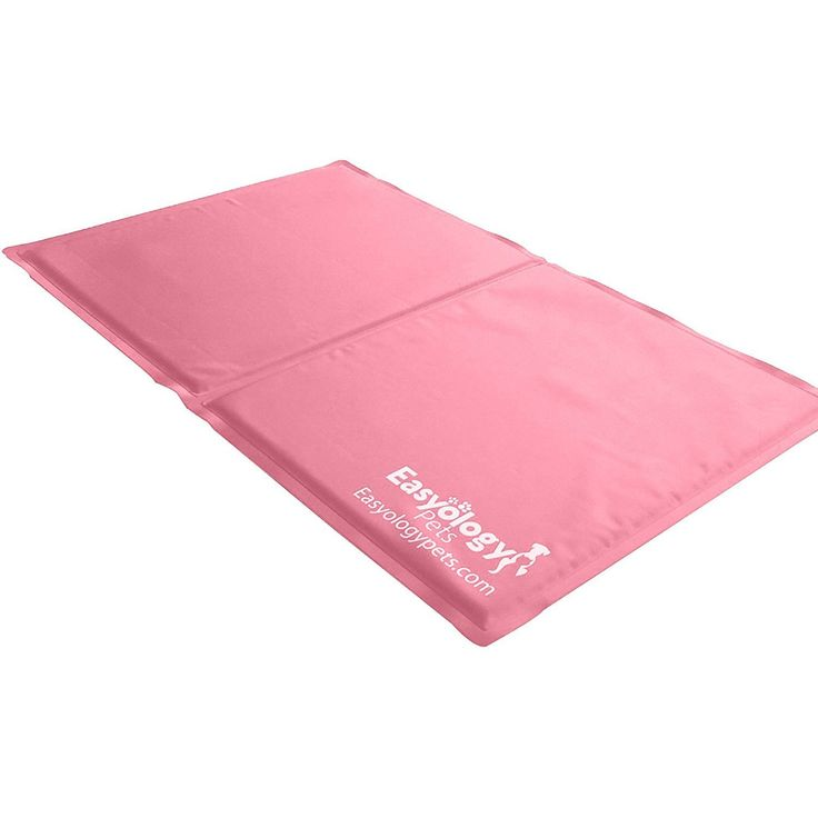 Pet Cooling Mat - Cold Gel Pad For Cats and Dogs - Best For Keeping Large Pets Cool - Perfect Size For Couch - 36 x 20 in Pink