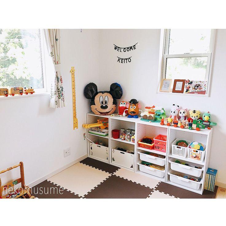 My Shelf/ニトリ/おもちゃ収納/カラーボックス収納/トロファスト風/おかたづけ育...などのインテリア実例 - 2017-05-08 05:22:39|RoomClip (ルームクリップ)