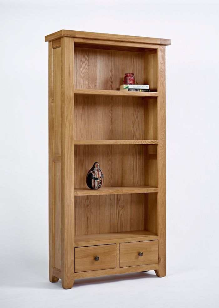 Oak bookcase for those of us who still respect and love the feel of read books. Get it at the great value Good Home Online furniture store.