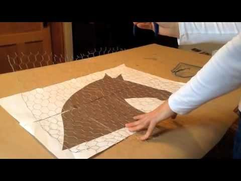 Red Scarf Equestrian: Making Horse Head Wreath Part 1 of 3 - YouTube