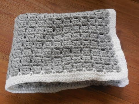 babydeken haken / baby blanket crochet beginner - YouTube