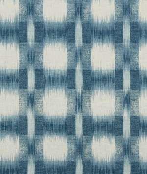 Option for boys' chair upholstery -- Robert Allen Plaid Ikat Lapis - $47.3 | onlinefabricstore.net