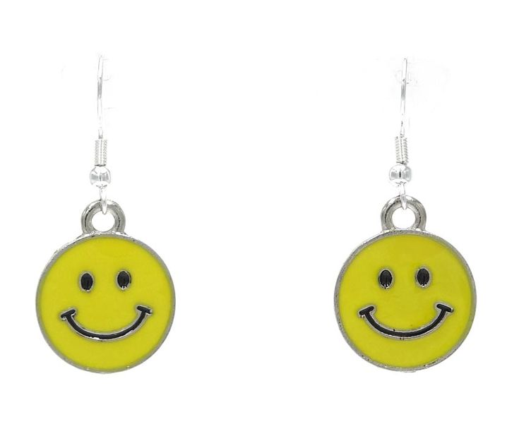 Yellow Happy Face Emoticon Earrings Pick Your Style