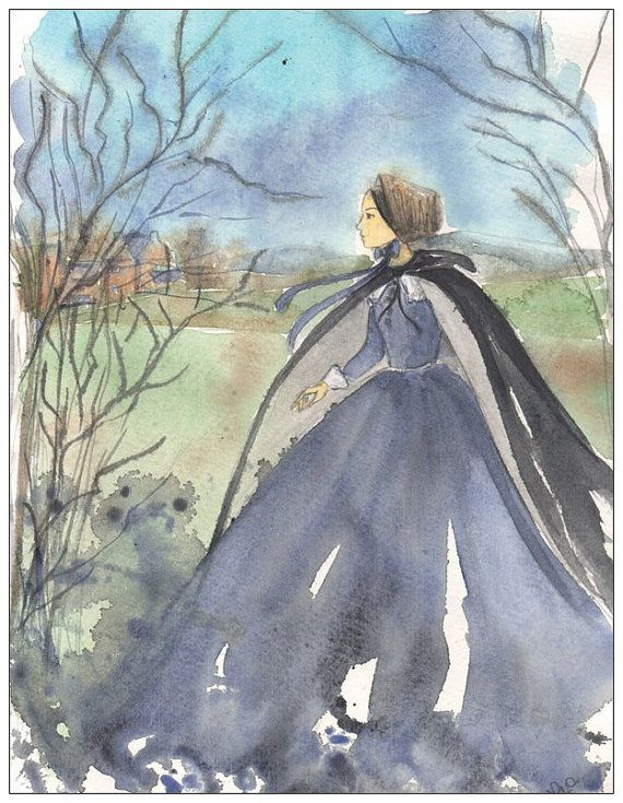 Jane Eyre postcard by silviadotti on Etsy