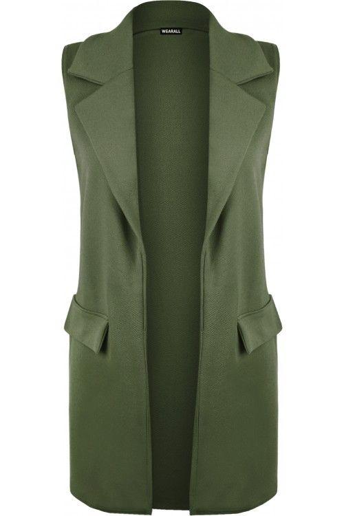 Kellia Long Sleeveless Waistcoat | Womens Waistcoats