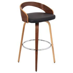 "Grotto 30"" Swivel Bar Stool with Cushion"
