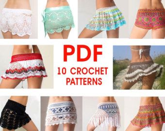 PATTERN Crochet beach skirt PDF lace cover up by katrinshine