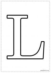 L Abecedario letras grandes imprimir mayúsculas