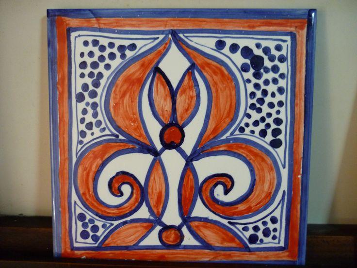 Hanpainted Tiles at Estúdio Destra Silves – Portugal www.estudio-destra.com